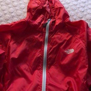 The Northface men's windbreaker raincoat base coat